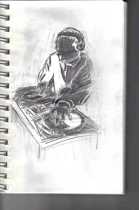 20 min sketch of a dj scratchin