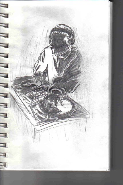 20 min sketch of a dj scratchin