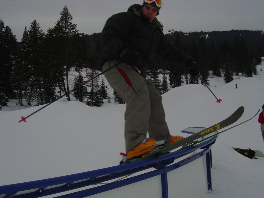This was a c rail they had at the new tamarck resort pretty cool park features