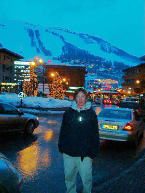 in the village, this place is the largest ski area in the world, its CRAZYYY