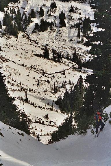 Mt Rainier - Chutes across from Golden Gate Ridge