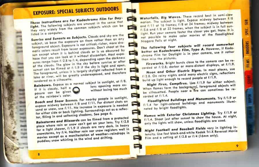 Kodak Super8 Movieguide 3