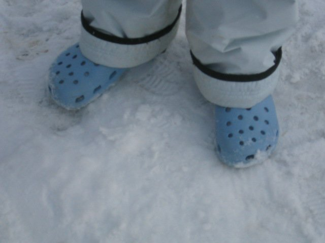 my shoes....wasnt such a good idea to wear them since we got 8 inches that night