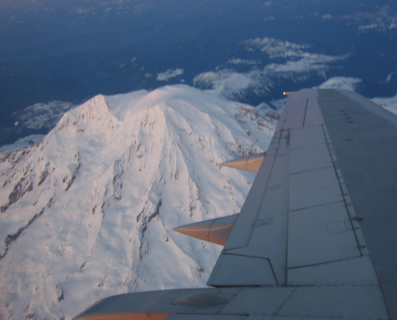 Mt. Rainier Plane shot
