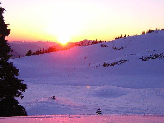 Sunset on Mt. Rainier