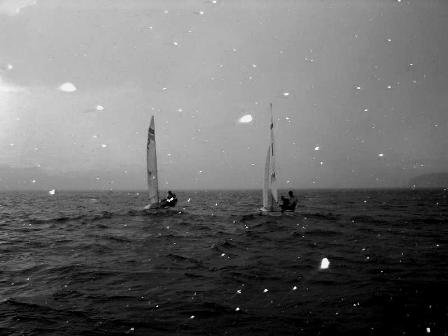 a friend of mine on the sailing team sent this to me, i put it in black and white and think it looks