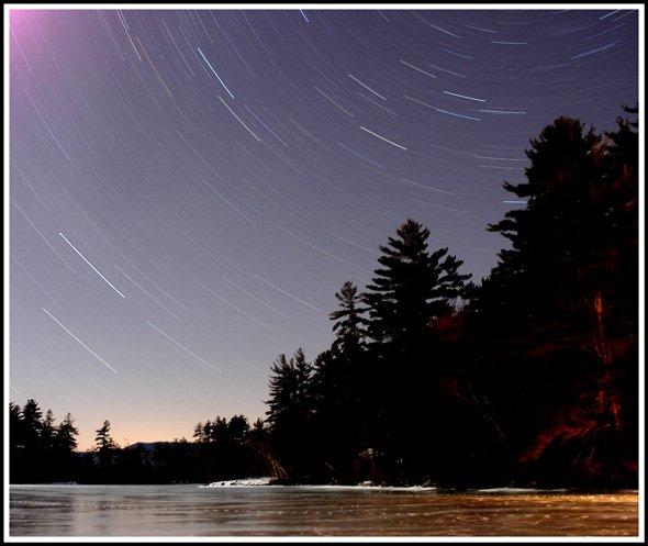 Star Trails Over Squam Lake