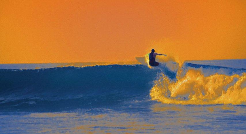 baja surf shot
