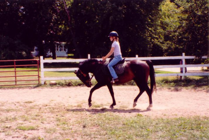 Riding my 3 year old horse, Odie