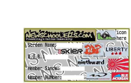 NS member card sample