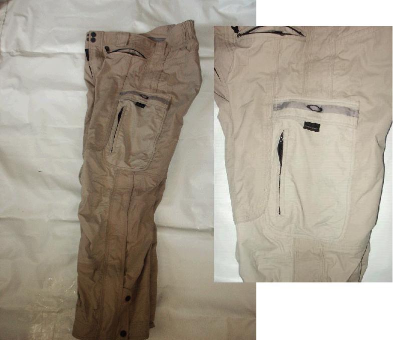 beige oakley trinity pants fs