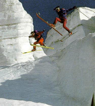 Some cool looking skiiers