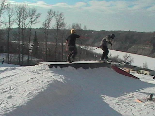 Being chased by a snowboarder. (Bad Quality)