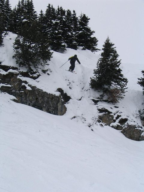 Big cliff on standish... prolly a 30 ft cliff, but i hit it with enough speed to drop bout 40