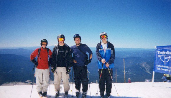 Mt hood in 03 with the CV boys