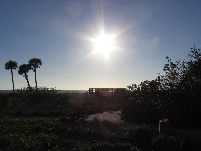 Another pic of the sun over Manasota Beach.