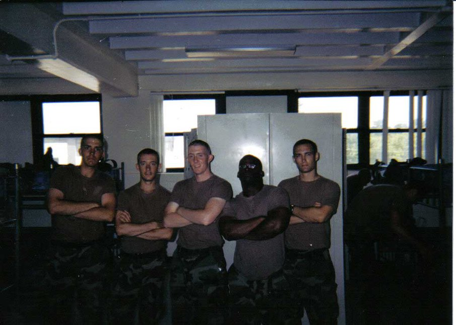 Me and some of my squad-End of basic training