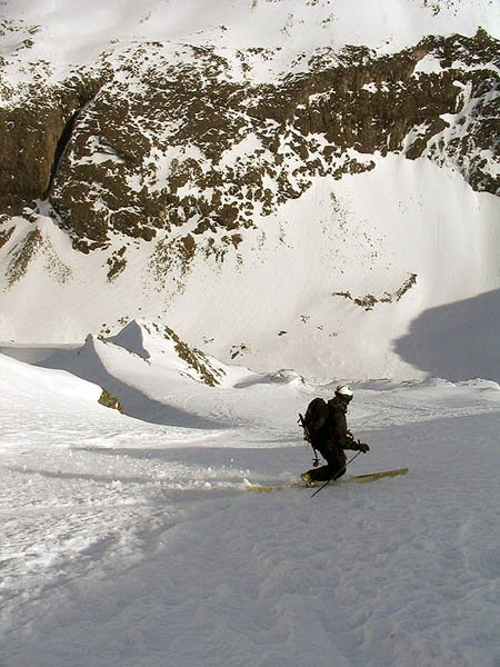 Steep telemark skiing