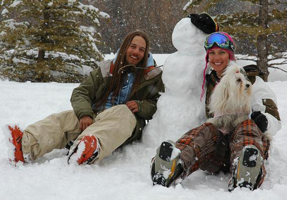 "Jake, our Rasta snowman, Me and Tequila ""Rasta colors, Winter vibrations"""