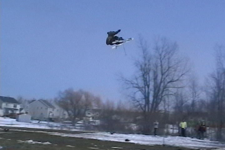 mid air over the 65 foot gap