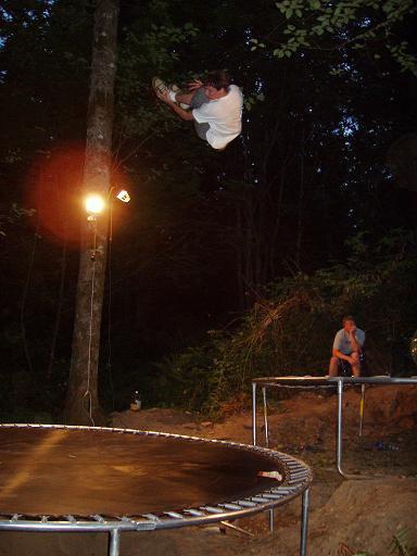 trampoline step down