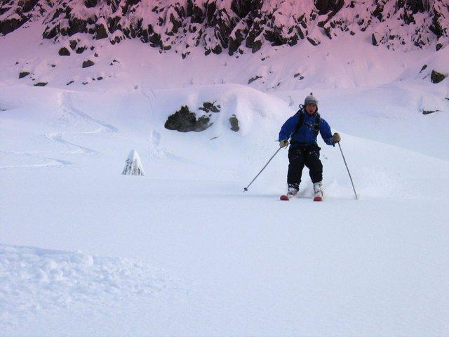 Skiing Mount Pilchuck