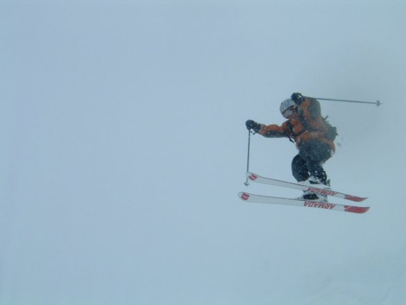 dropping in the blizzard