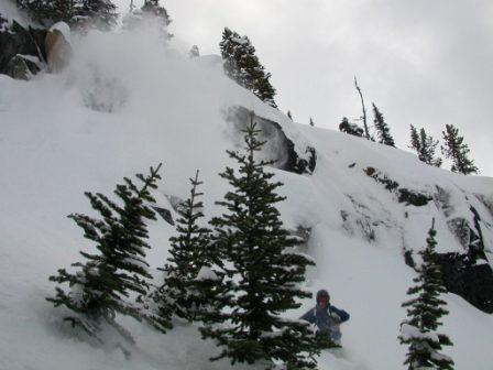 Cliff drop landing