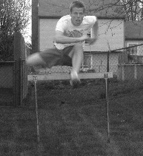 HURDLER IN TRAINING