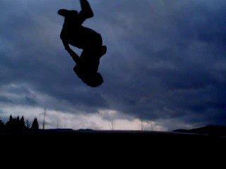 backflip in the dark-sick shot