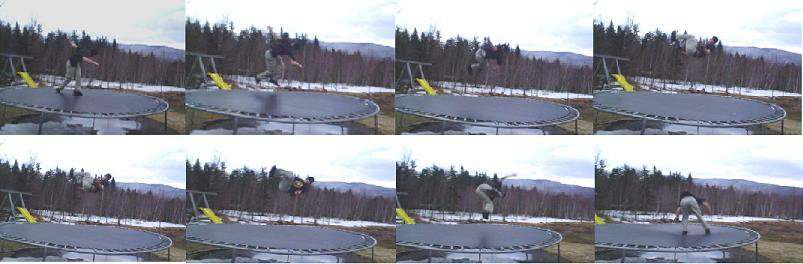 Cork 5 sequence on trampoline