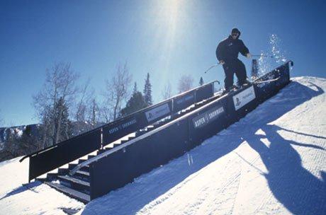 Rail slide at Buttermilk