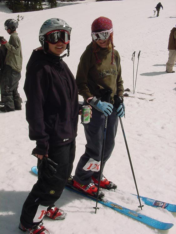 Erin(Left) and another girl that competed in slopestyle