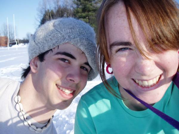 Sometime during an afternoon of On Campus Skiing...