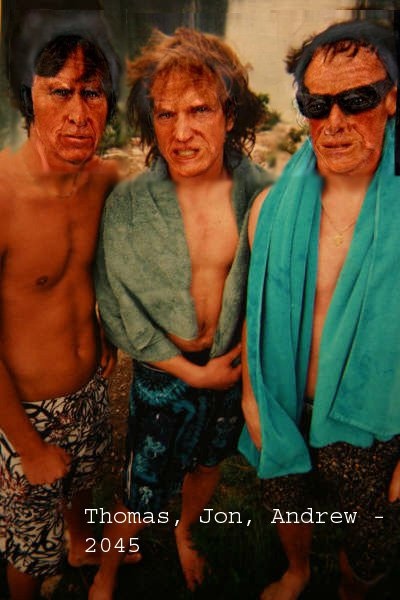 Thom, Me, Andrew in 40 years