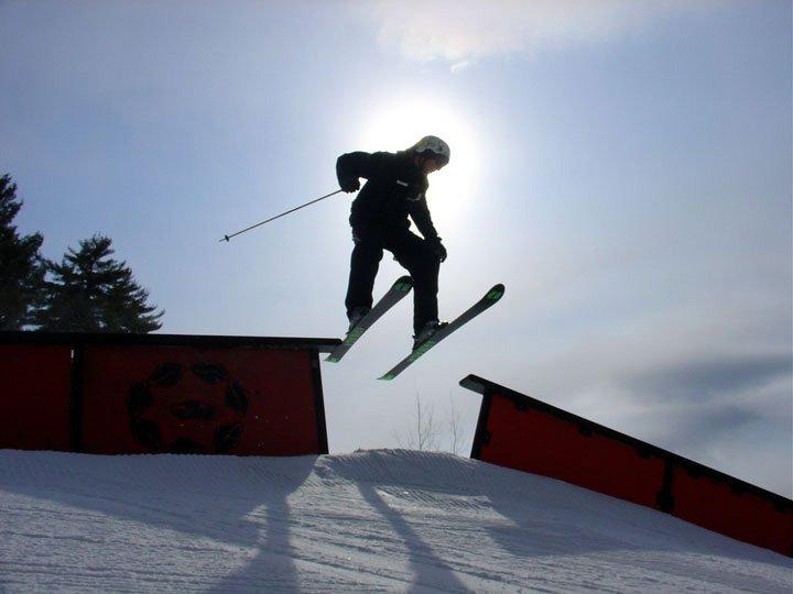 same rail gap different skier