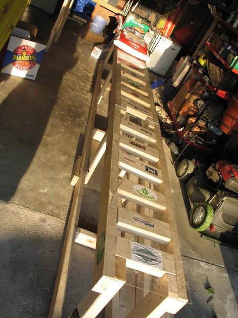 box length with first panel glued