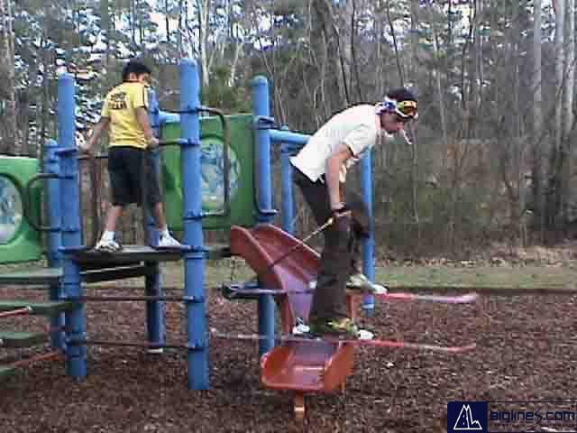 me jibbing a stupid slide