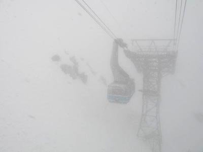 It is snowing at snowbird agian