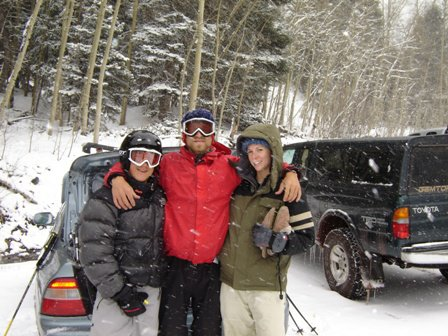 Some of the UNM posse on the last day at Taos