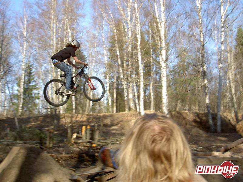 like first dirt jump of the season