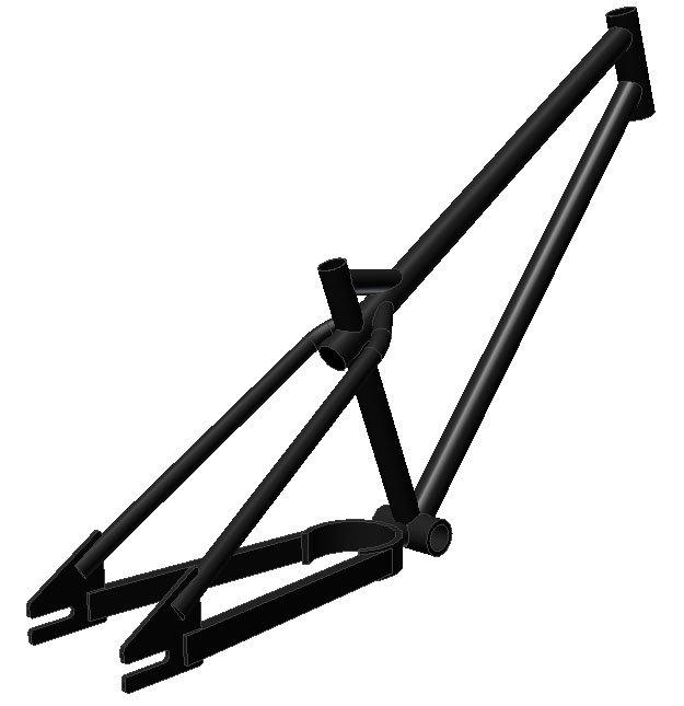 CAD bike frame