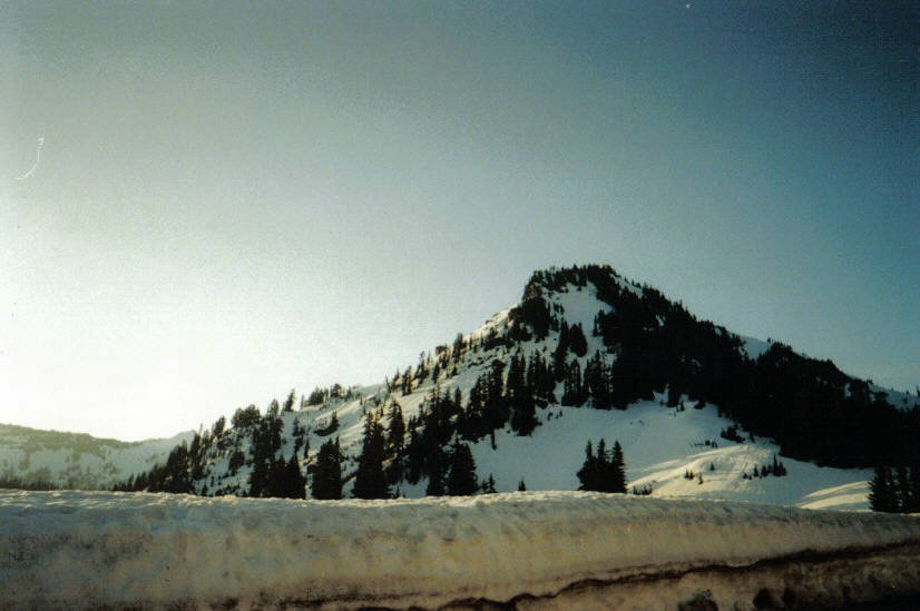 Chinook pass early in the morning