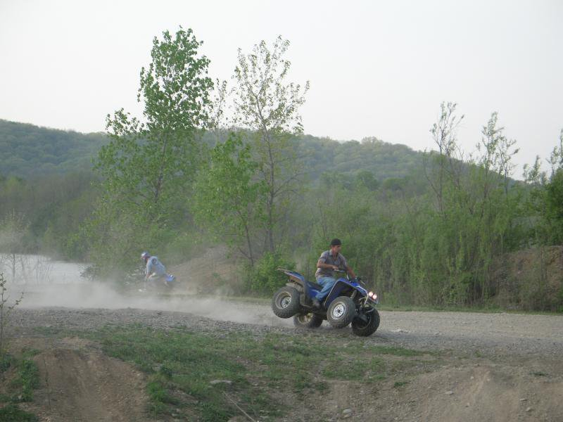 2 wheelin' on the quad