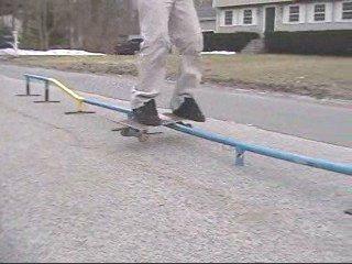 Boardslide double kink to flat rail