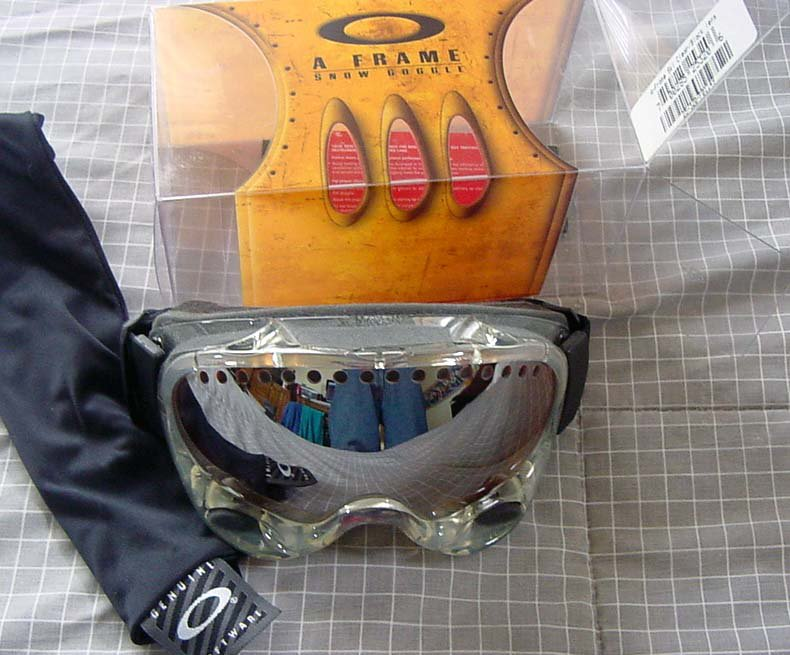 FS: Oakley A Frame - Clear w/ blk lens