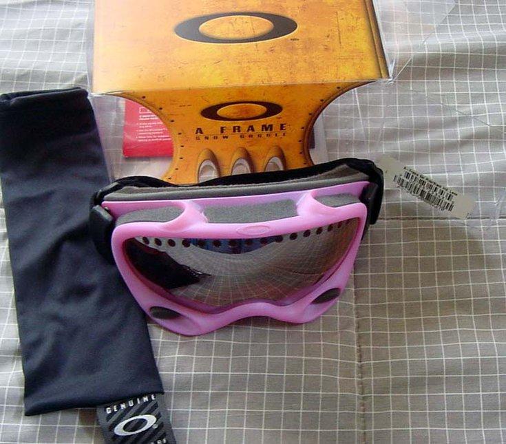 FS: Oakley A Frame - Pink w/ blk irid. lens