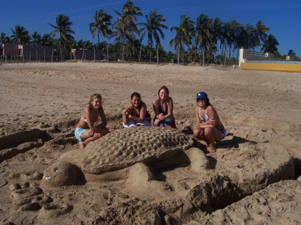 thats us with PEDRO the turtle we made... oh yea