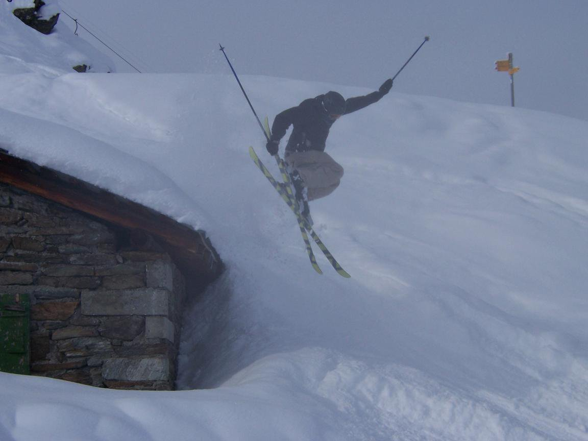 jump off a shed in switzerland