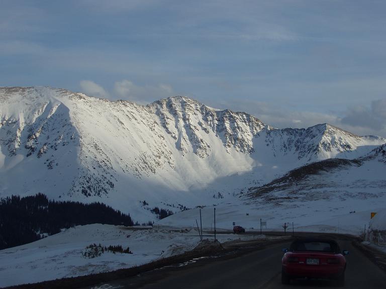 east wall from loveland pass